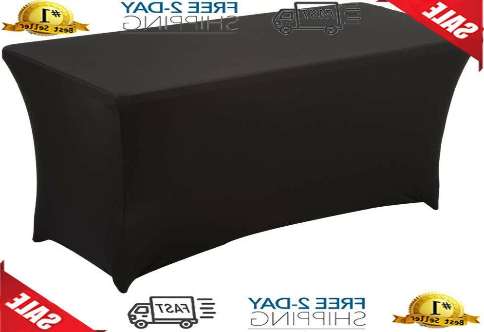 haorui rectangular spandex table cover 6 ft