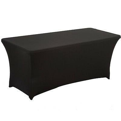 haorui rectangular spandex table cover 8 ft