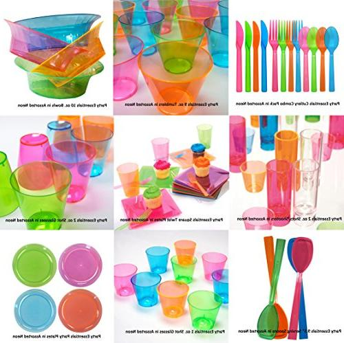 Party Hard Plastic 10-Ounce Cups/Tumblers, Assorted