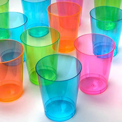 10-Ounce Cups/Tumblers, Assorted Neon