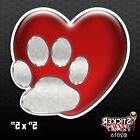 Heart and Dog Paw Love Bumper Sticker Car Decal Pets Adopt R
