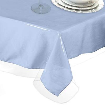 heavy duty deluxe crystal clear vinyl tablecloth