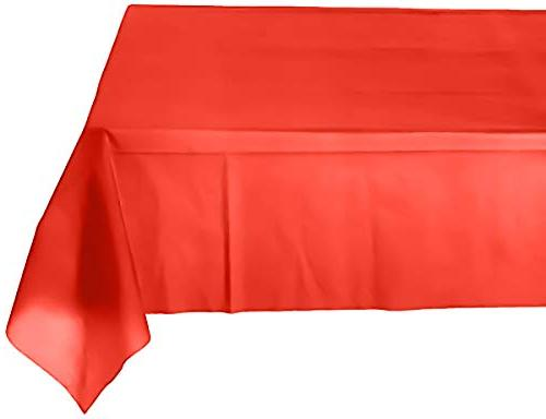 """Heavy Duty Plastic Tablecloth 54""""x 108"""". Rectangular Product for or Any Occasion. . in 5 Different Colors"""