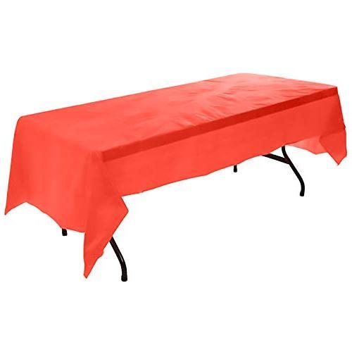 heavy duty plastic tablecloth rectangular