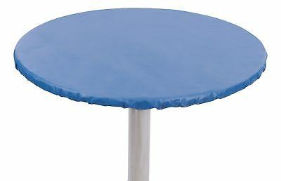 Yourtablecloth Heavy Duty Vinyl Round Fitted Tablecloth  wit
