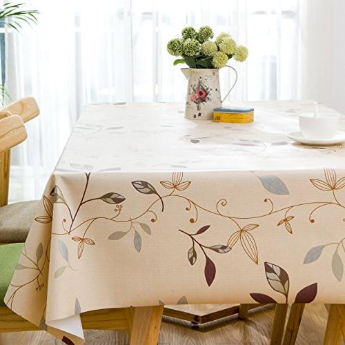 LEEVAN Heavy Clean Tablecloth Stain-Resistant/Mildew-Proof 54 54