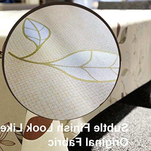 LEEVAN Heavy Vinyl Square Table Cover Clean Tablecloth Oil-Proof/Waterproof Stain-Resistant/Mildew-Proof - 54 x 54