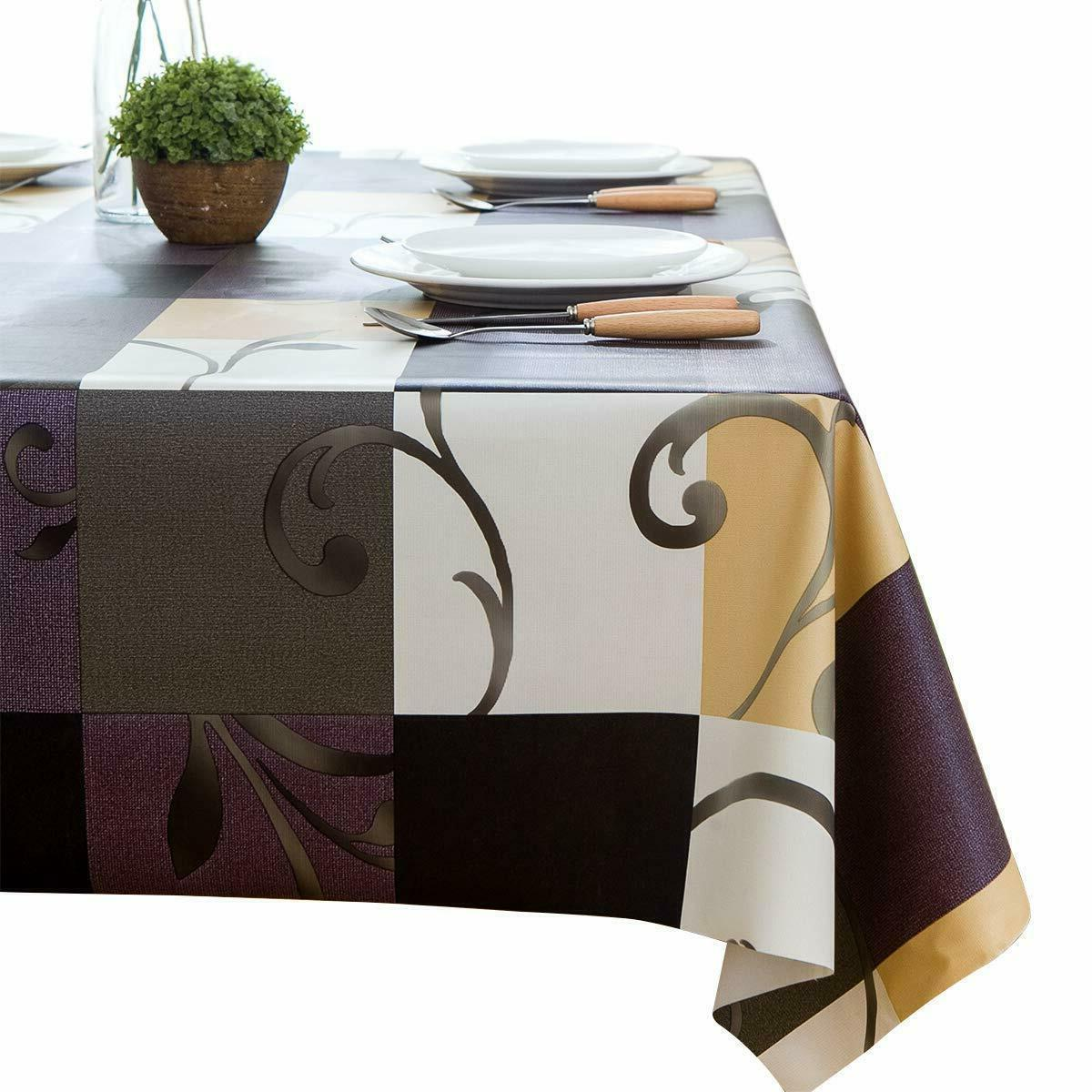 heavy weight vinyl rectangle table cover clean