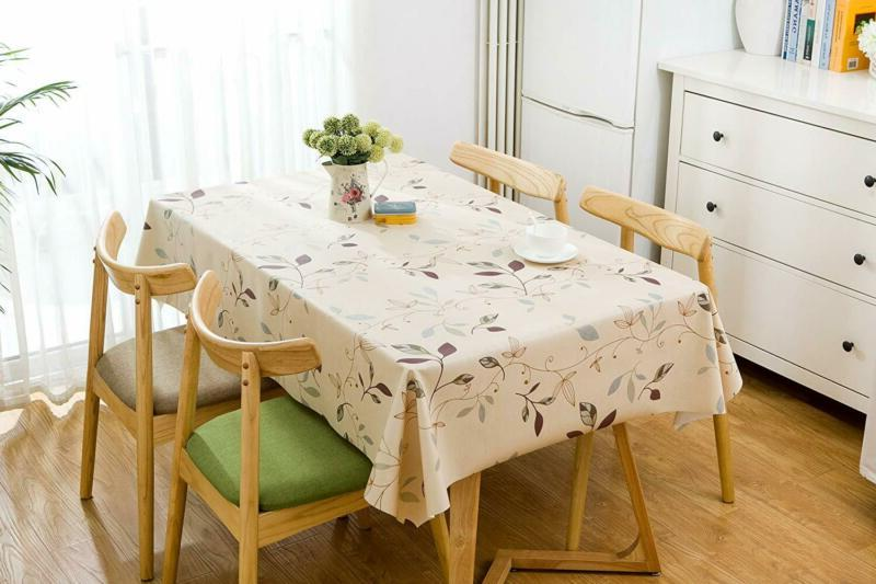LEEVAN Weight Square Table Clean PVC Tablecloth