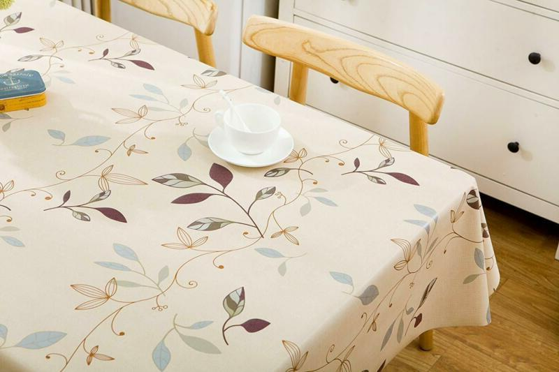 LEEVAN Heavy Weight Square Clean PVC Tablecloth
