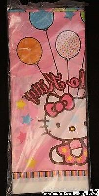 American Greetings Hello Kitty Plastic Table Cover, Balloon