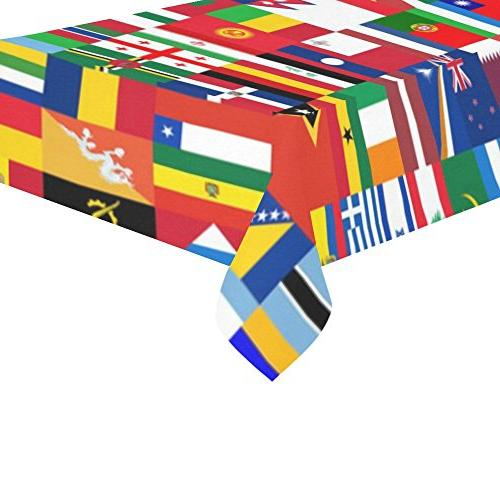 Artsadd Decor World Tablecloth 60''x120'' Tablecover Desk Table Room, Table,