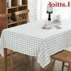 Home Rectangle Dining Room Cloth Cover Linen Cotton Blend Ca
