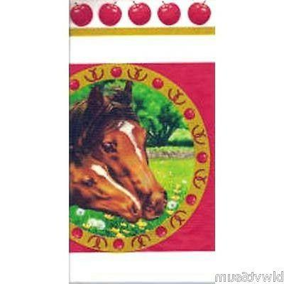HORSE MARE AND FOAL TABLECOVER FOR BIRTHDAY OR 4-H PARTIES