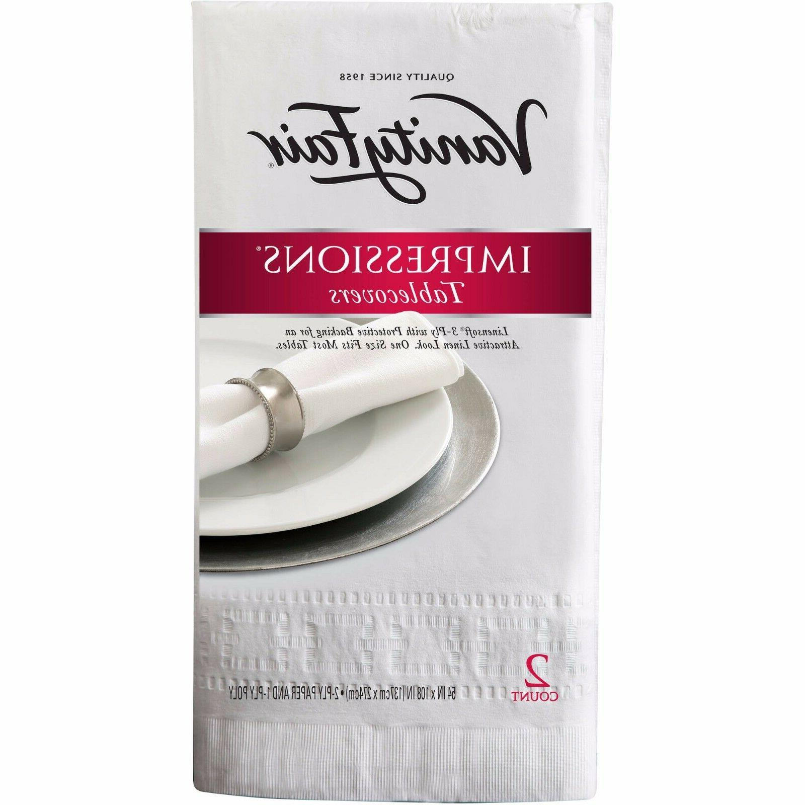 Vanity Fair Impressions Tablecovers, 2 count Banquet Paper T