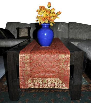 Indian Silk Table Animal Pattern Table Tapestry 60""