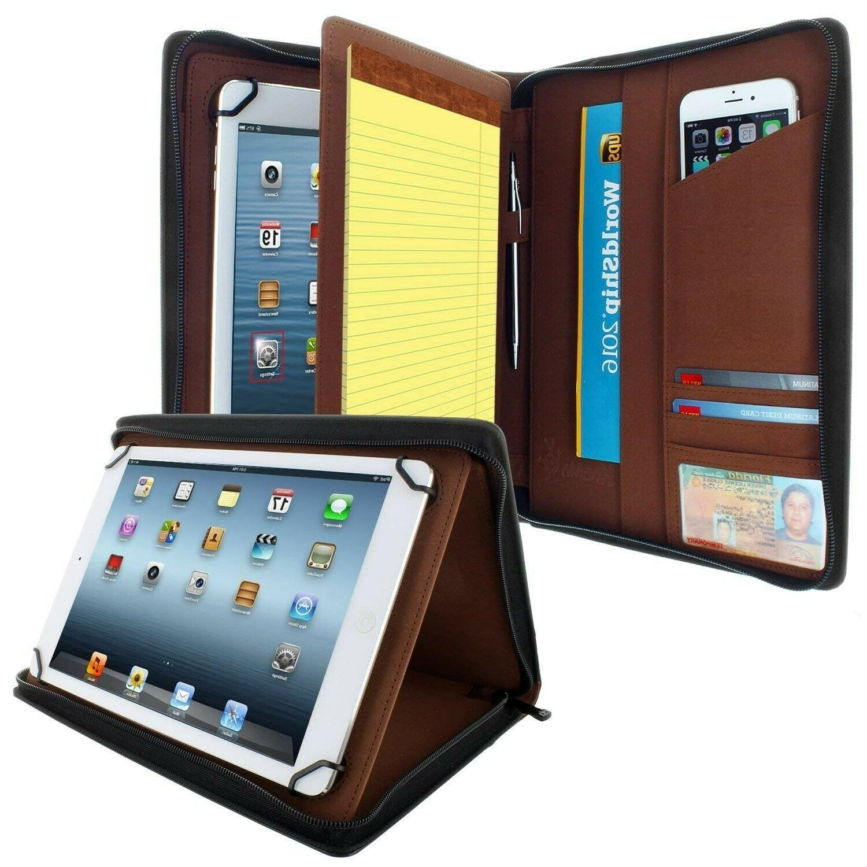 ipad padfolio zippered tablet case universal pad