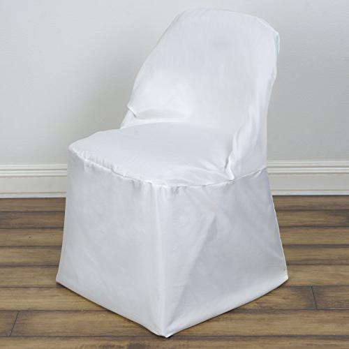 ivory folding round polyester chair