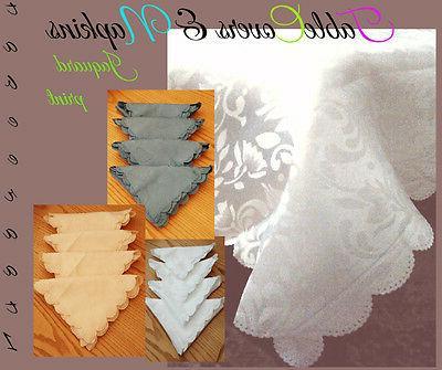 jacquard design table cover table cloth
