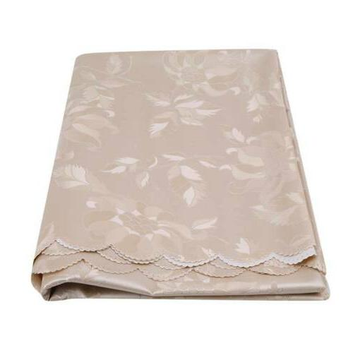 Jacquard Floral Cloth Runner Round