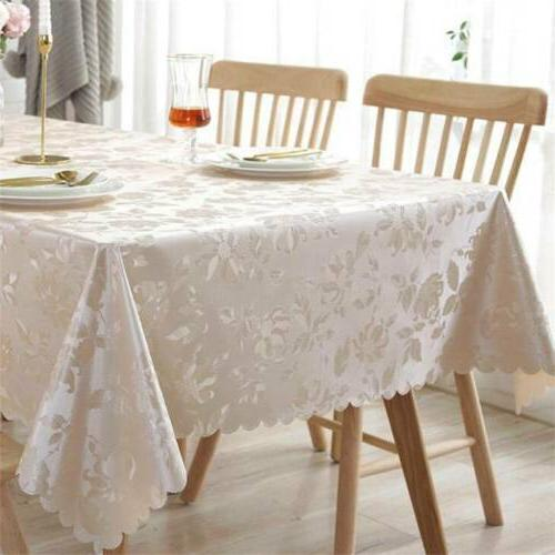 Jacquard Floral Table Cloth Napkin Runner Round Tableware