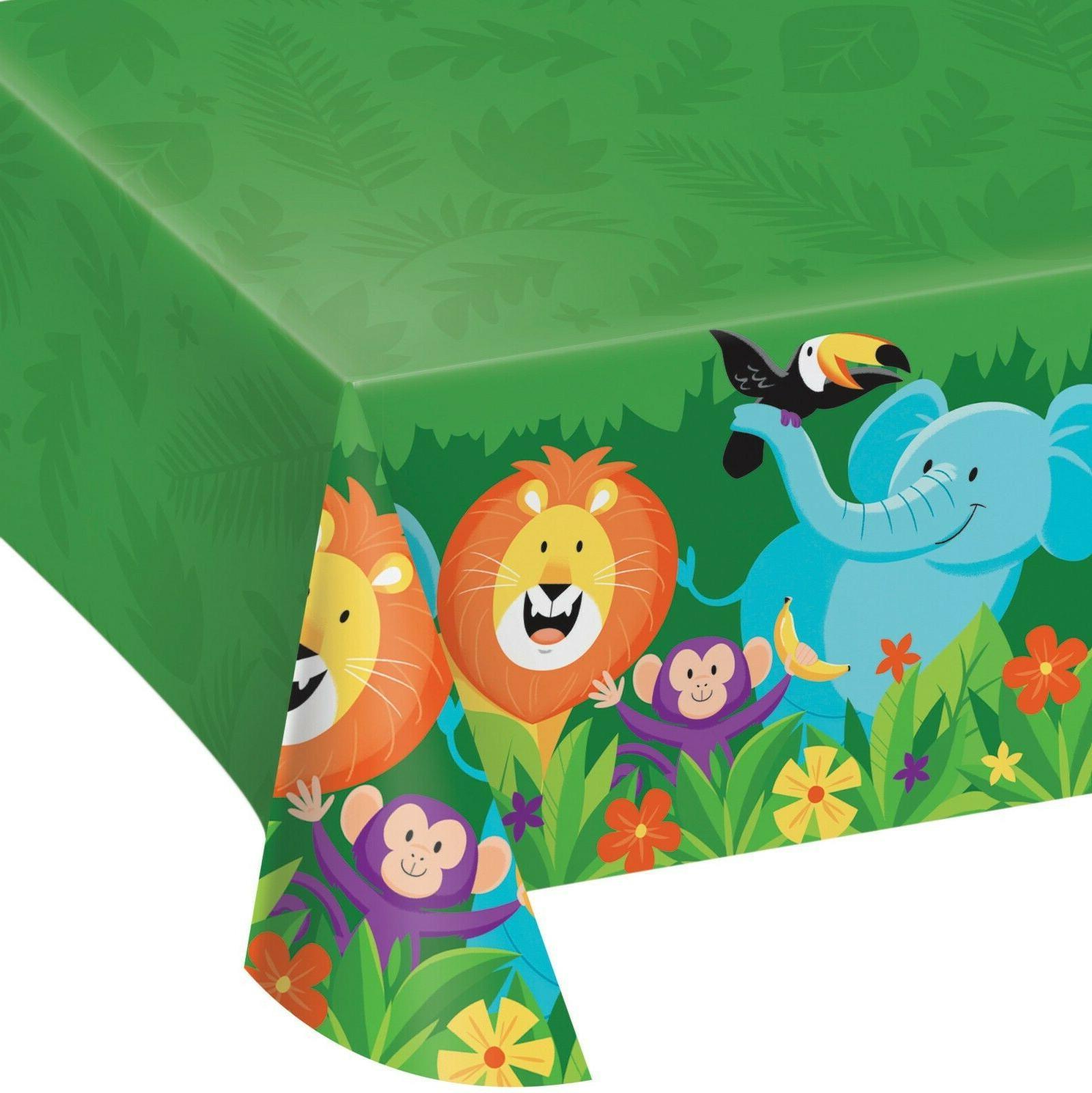 jungle safari plastic party table cover table