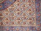 """Kalamkari Block Print Square Cotton Tablecloth 60"""" x 60"""" Mul"""