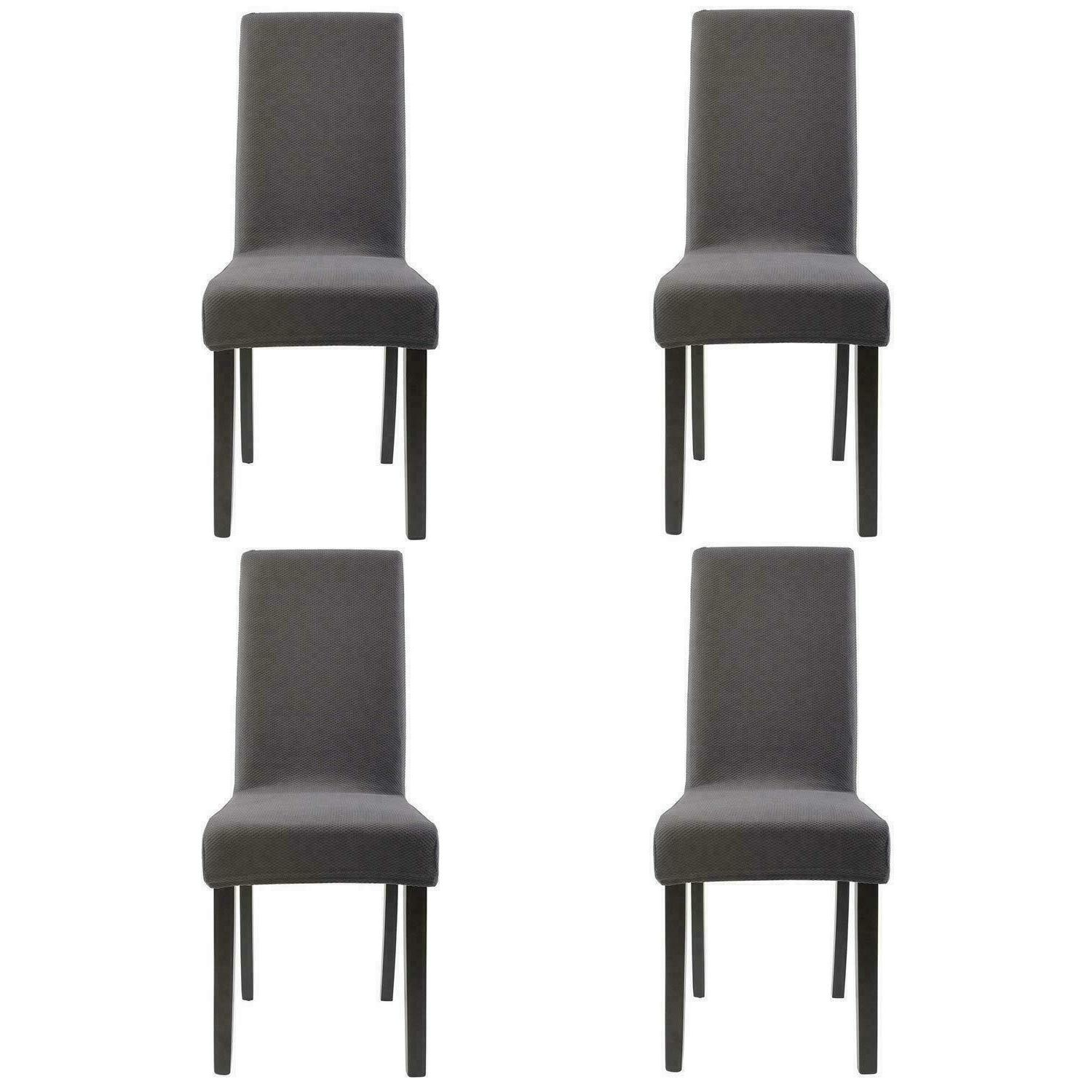 knit spandex stretch dining room chair slipcovers