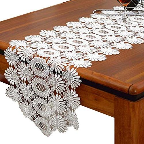 lace table runner piano cover