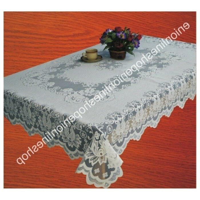 "lace tablecloth cover table oblong 150x230 cm or 60""x90"" rec"