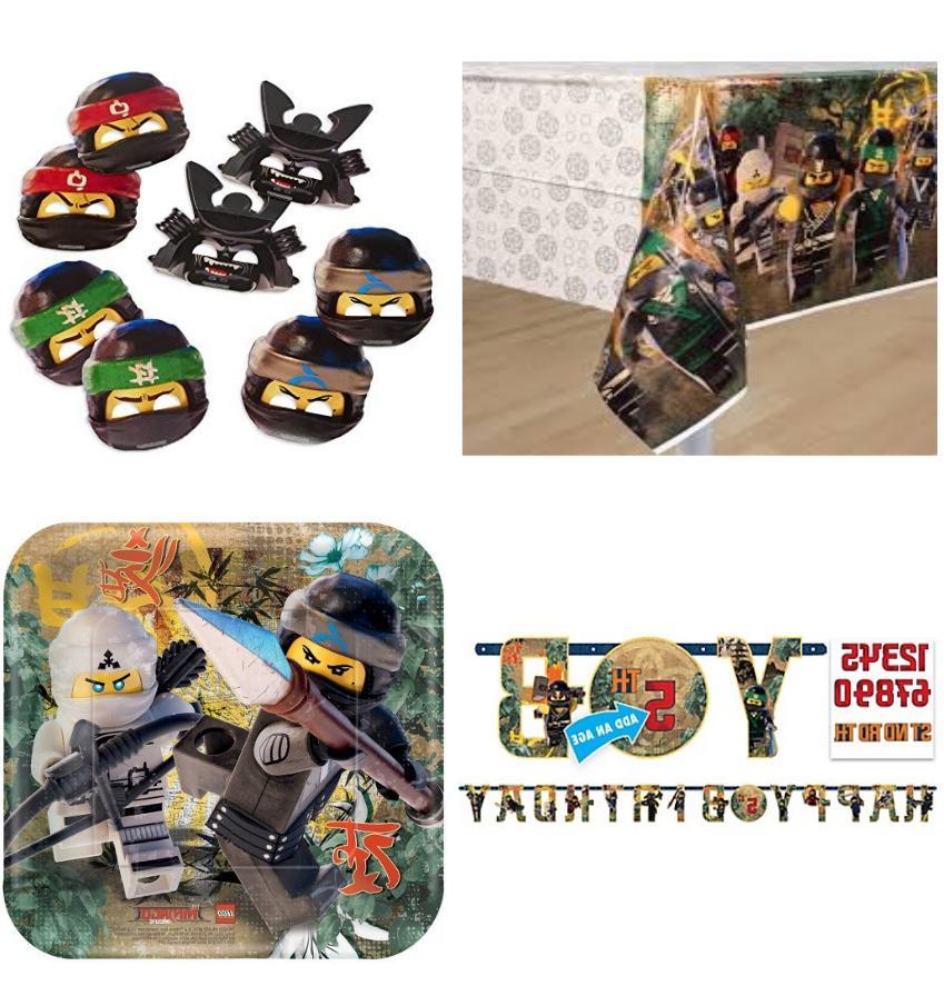 lego ninjago party supply table cover face