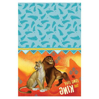 lion king paper table cover birthday supplies