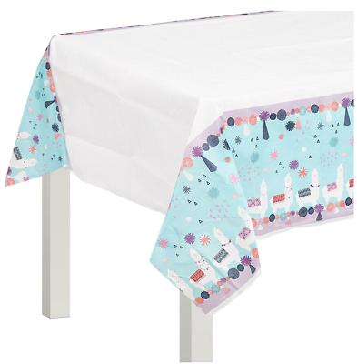 llama fun paper table cover birthday supplies