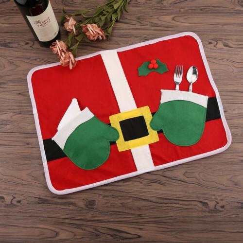 LOT Christmas Table Wine Bottle Cover Ornament