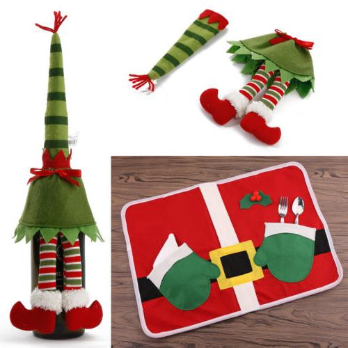 lot merry christmas placemats table mats wine