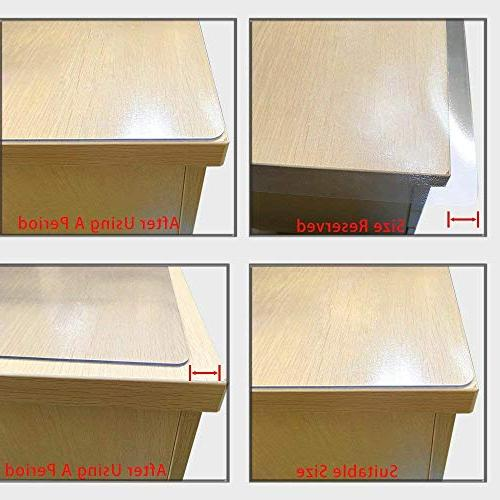 """LovePads Multi Size Thick Custom Table Protector Tablecloth Furniture Protective Desk Coffee Dining End 42"""" x"""