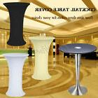 Lycra Stretch Cocktail Table Cover Poseur Dry Bar Spandex Cl