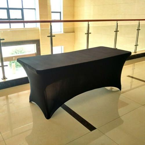 DH Party Folding Table Cover Tablecloth White Black