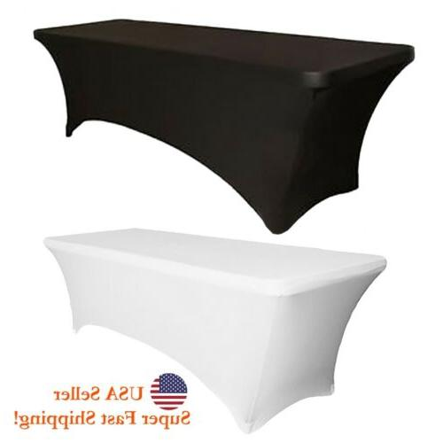 lycra stretchable rectangle party folding table cover