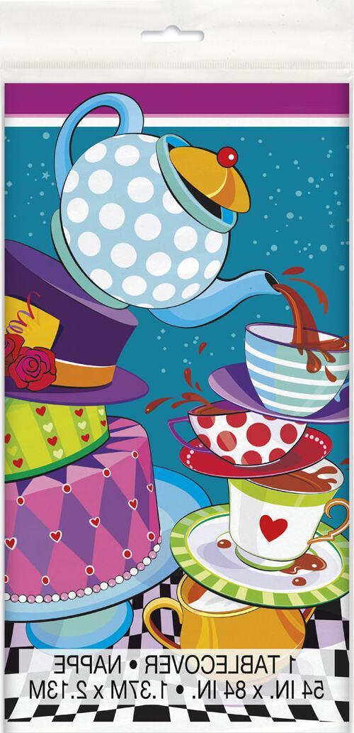 mad hatter tea plastic table cover birthday
