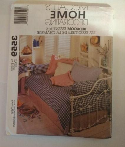McCall's 3559 Bedroom Essentials Duvet Bedskirt Table Cover