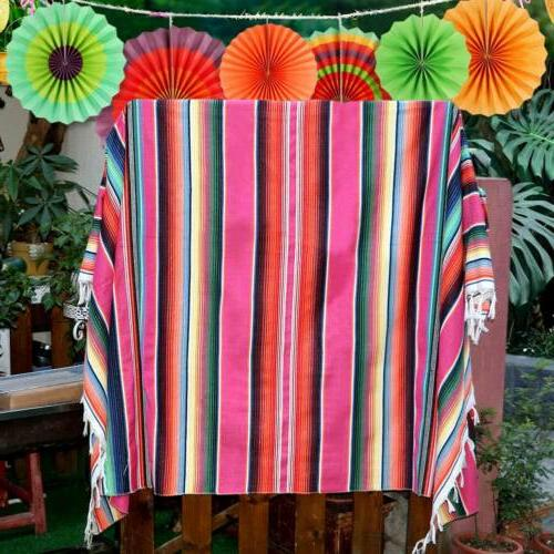 Mexican Tablecloth Serape Table Party Fiesta Decor