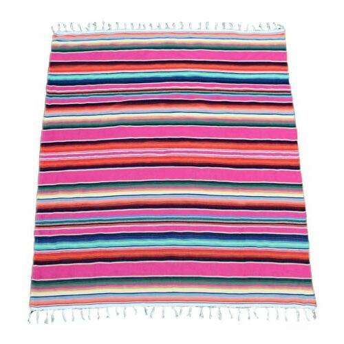 Mexican Tablecloth Cotton Serape Party Fiesta Decor