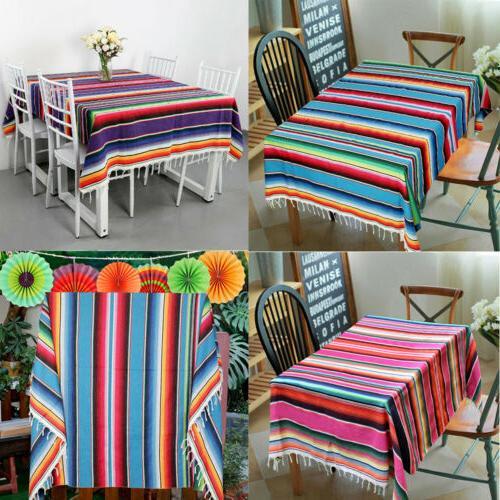 mexican serape blanket table cloth cotton beach