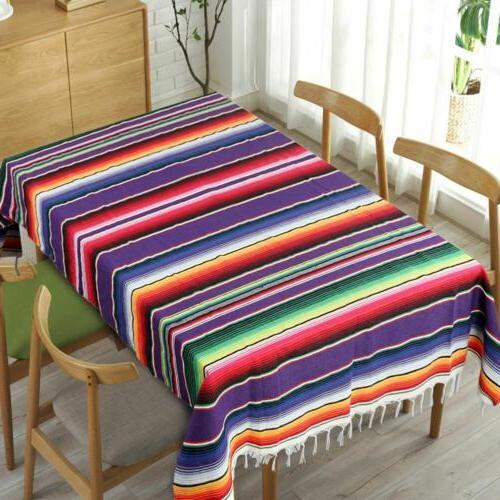 Mexican Serape Table Runner Blanket Tablecloth Wedding Party Decor