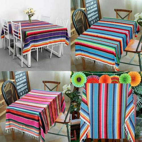 mexican serape table runner blanket cotton tablecloth