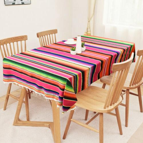 Mexican Serape Table Runner Tablecloth Picnic Party Cover