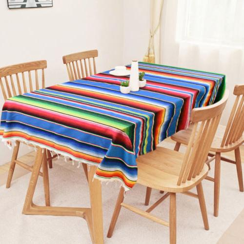 Mexican Serape Tablecloth Party Table
