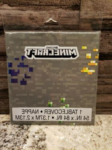 minecraft tablecover table cloth cover birthday party