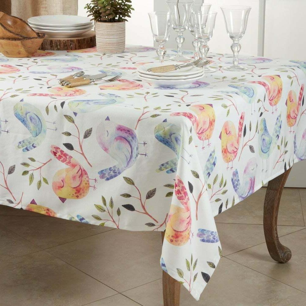 modern flock of birds design table linen